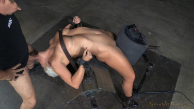 Holly Heart Bent Over Backwards With Brutal Drooling Deepthroat