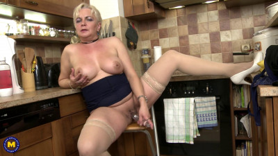 Description horny housewife Milena playing with her dildo