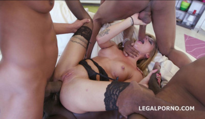 Sexy Babe Silvia Dellai In Rough Interracial Gangbang