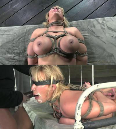 Hard bondage, torture, spanking and hogtie for very hot blonde