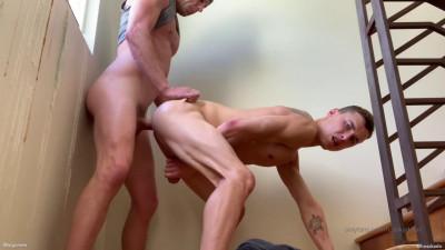 Hot stairwell raw fuckin pleasing