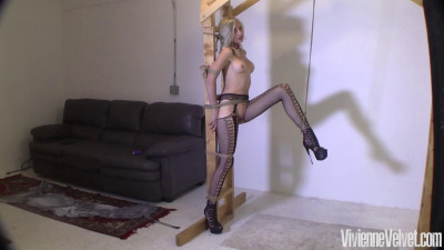 Vivienne is dressed up super sexy in her stockings