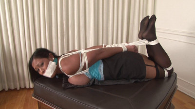 Maxine X Hogtied with Two-Layer Gag
