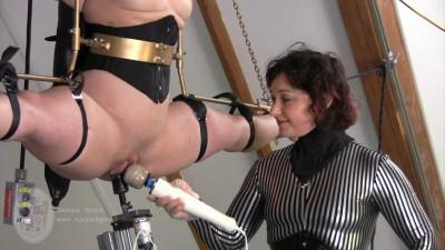 Bondage, domination, strappado and torture for horny slavegirl HD 1080p