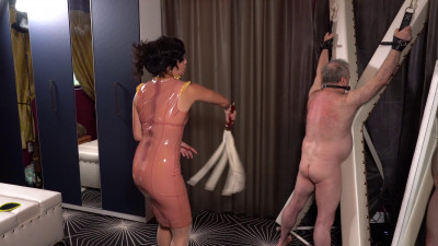 Mistress Lucy Khan - Latex Governess Beats Her Whipping Boy