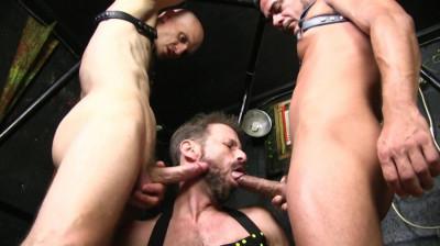 Three Way Raw Cage Fuck With Sean Storm