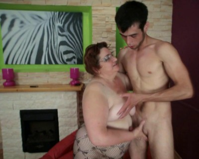 Young ramrod for granny butt hole