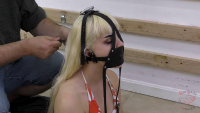 Super bondage, hogtie and torture for young blonde part 1