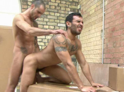 Horny guys in hard bareback