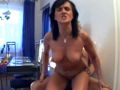 Small boobs and mature dick