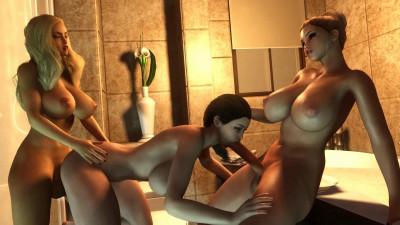 Threesome Bath room