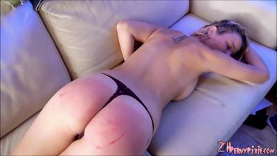 A Severe Ass Spanking close up