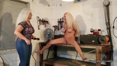Sandra Silvers, Amanda Foxx – Orgasm & Tickle Torment in the Workshop!