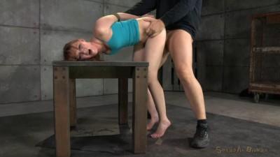 Marie McCray bound, sucks and brutal challenging deepthroat!