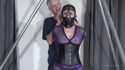 Serene Isley – Purple Catsuit Strappado Predicament