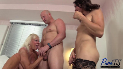 Kelli & Christian introduce granny to a threesome — FullHD 1080p