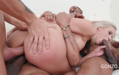 Ria Sunn Enjoys Interracial Orgy With Many Massive Dicks