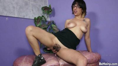 Tattooed Latina gets naked