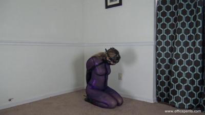 Isean – Purple Catsuit Nipple Play