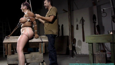 Gia Rides the Horse While Bound in Nylons – Part 4