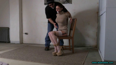 Sarah Brooke Hogtied with Jute Rope in the Basement Dungeon!