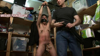 Charlie – Tied, pants taped to his head, fucked with a vibrator