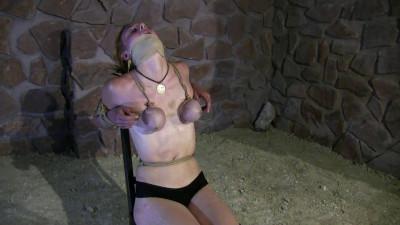 Supertight Breast Bondage Predicament In The New Dungeon