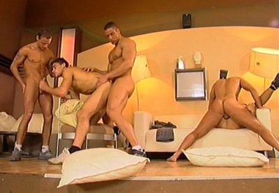 Description Raw Orgy With Muscle Firestarters