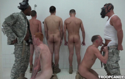 Showering Gangbang Party
