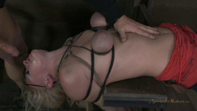 SexuallyBroken 20yr old Farmers girl gets her huge tits bound (video, bdsm, show, vid)