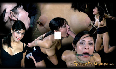 Sexually Broken-Hot Cougar with a deep throat, HUGE nipples and shaved pussy 5.8 2013