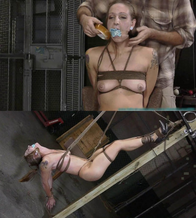 Tight bondage, domination and strappado for naked girl