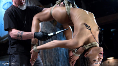 Description All Natural Ebony Newcomer in Brutal Bondage and Suffering Like a Pro!