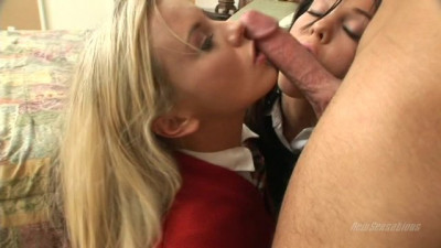 Two Very Hot Blondes In Action