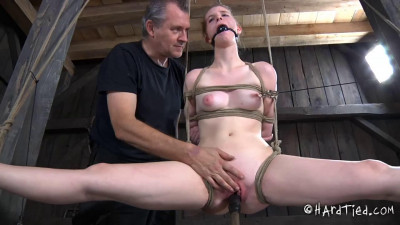 Tight bondage, torture and strappado for beautiful model