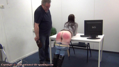 Shirly's first spanking