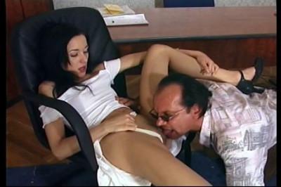 Naughty Secretary Flirting With The Boss