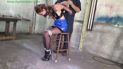 Tight & shiny squat strappado