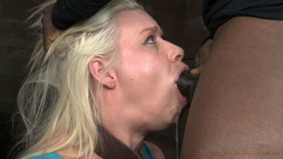Stunning Anikka Albright Does Brutal Deepthroat On 10 Inch BBC