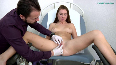 Description Mila Fox(23 years girl gyno exam)