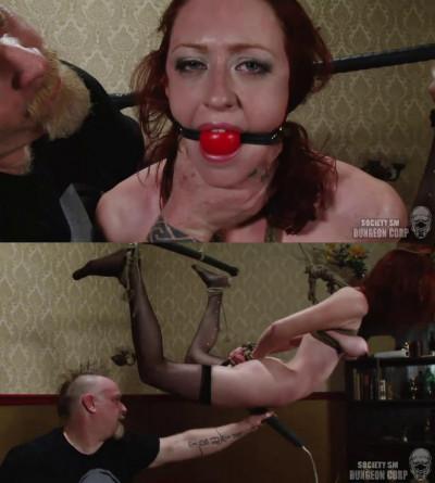 BDSM Tight bondage, spanking, suspension and torture for hot slut part 2