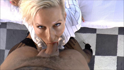 Horny secretary drains a guys dick