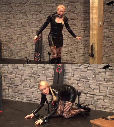 Tight bondage, domination and hogtie for sexy young slavegirl