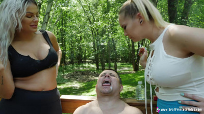 Goddess Becky And Princess Natalya Uses Male For Human Ashtray