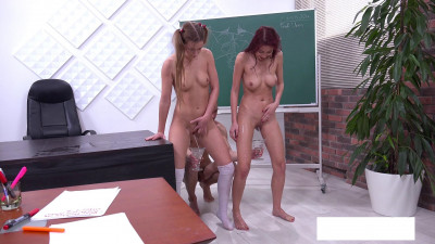 Description Our first experience pissing in school