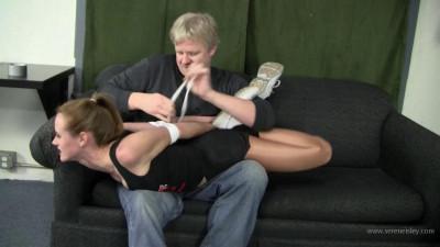 Madalynn Raye – Hooters Girl Bent Over and Bound