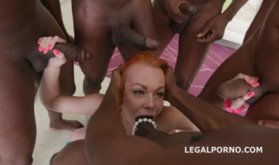 Black Busters Destroy Russian Slut In Interracial Gangbang With DAP