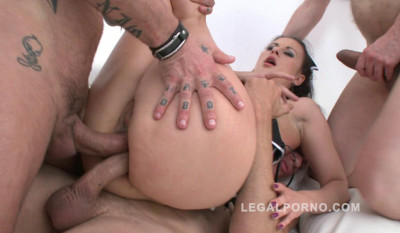 Billy Star loves double anal orgy with 5 guys