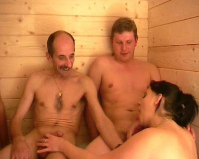 Foursome in sauna