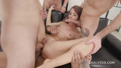 My First BurttRose, Vicky Sol Four on One Dap Gapes Creampie